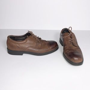 Rockport Brown Leather Oxford Loafers Size 10